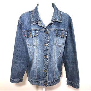 Chico's Denim Jean Trucker Jacket XL/16